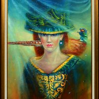 Woman and Pheasant 4300€